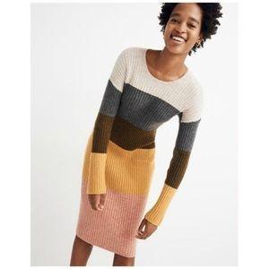 NWOT Madewell Colorblock Midi Sweater Dress